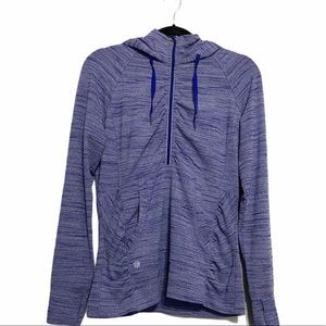 Althleta Heather Purple Half Zip Hooded Pullover
